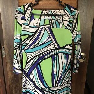 EMILIO PUCCI Multi Color Green Dress Small